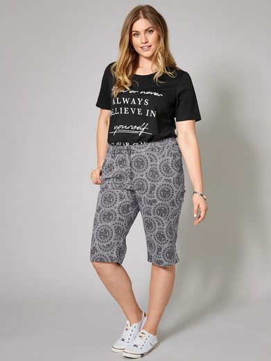 Janet und Joyce by Happy Size Shorts mit Allover-Print