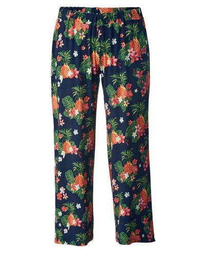Sara Lindholm by Happy Size Jersey-Hose mit Blumen-Print