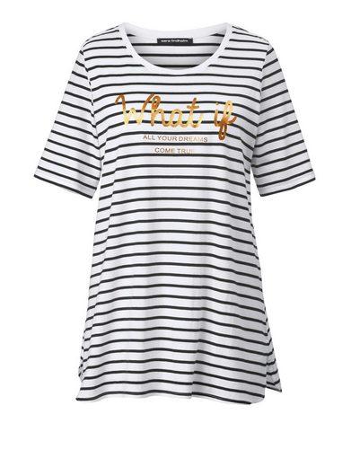 Sara Lindholm by Happy Size Shirt gestreift