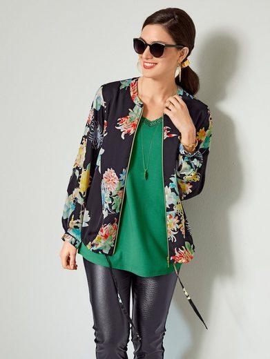 Sara Lindholm by Happy Size Blouson mit Blumen-Print