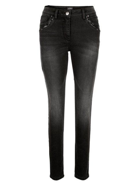 Hosen - Amy Vermont Jeans mit Pailletten und Strassdekoration ›  - Onlineshop OTTO