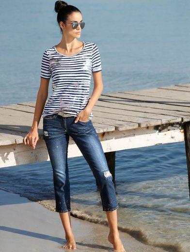 Amy Vermont 7/8 Jeans Mit Destroy-effekten