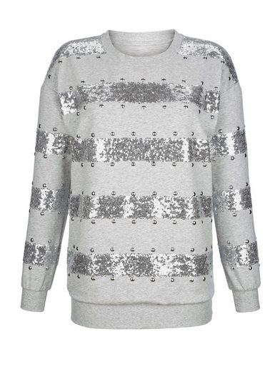 Amy Vermont Sweatshirt With Sequins And Metal Plate