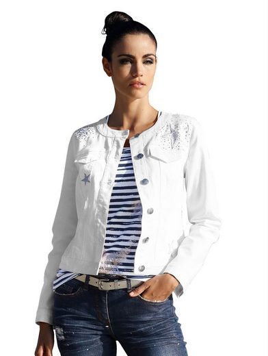 Amy Vermont Denim Jacket With Knitted Sternen