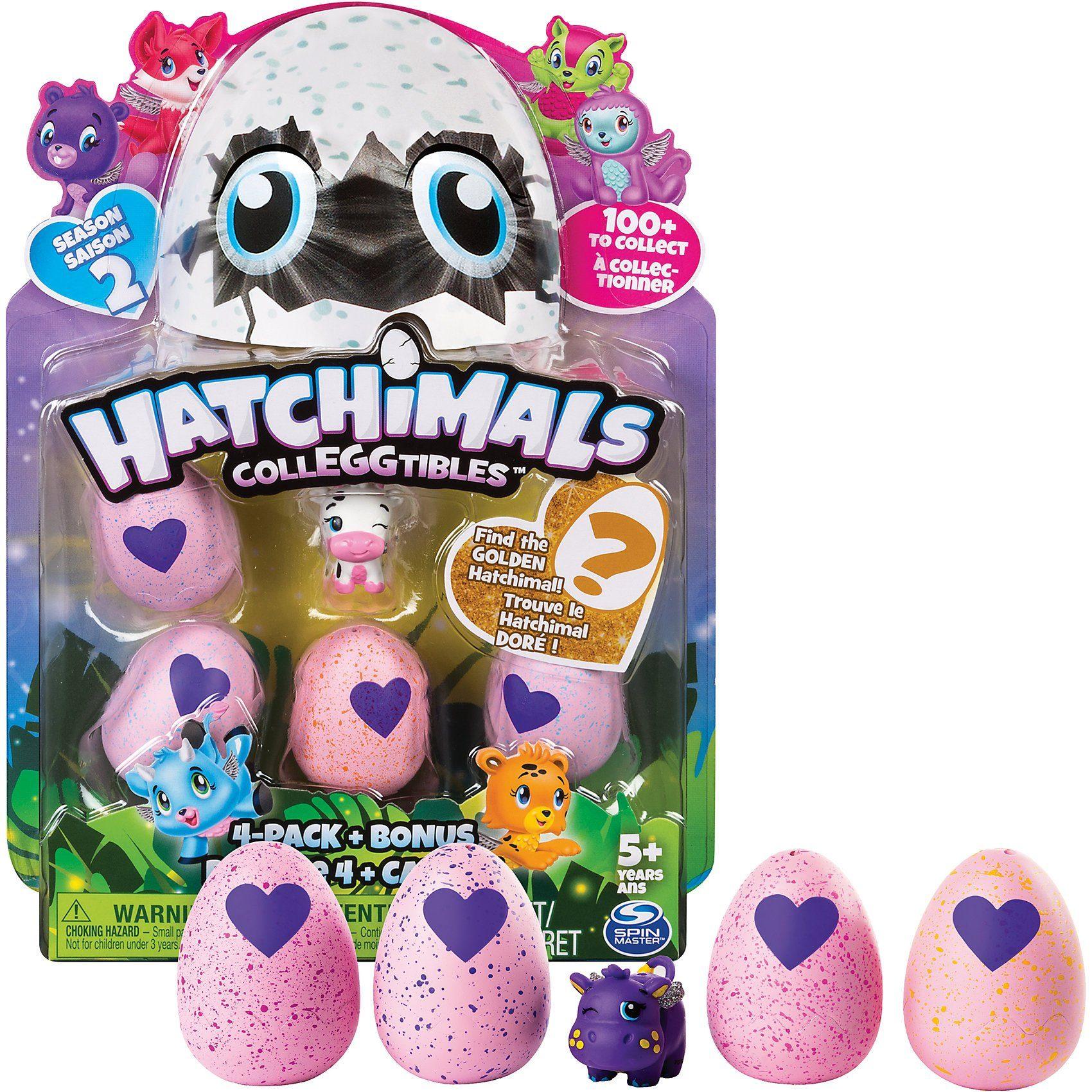 Spin Master Hatchimals Colleggtibles 4 Pack + Bonus S2
