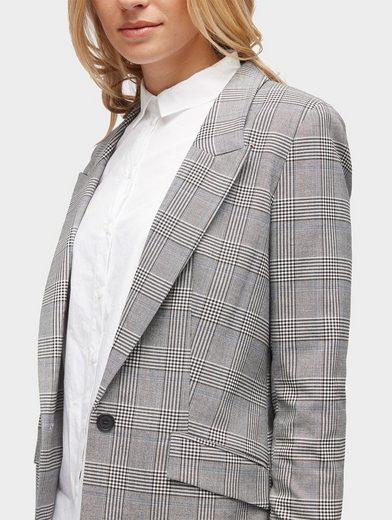 Tom Tailor Longblazer Blazer im Glencheck-Muster