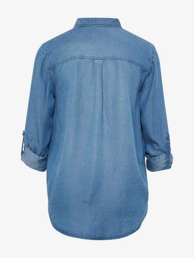 Tom Tailor Langarmbluse Jeansbluse mit aufgesetzten Taschen
