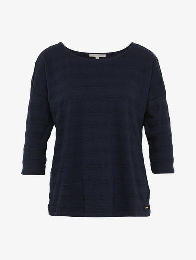 Tom Tailor Denim 3/4-Arm-Shirt Shirt mit Knöpfen an den Schultern