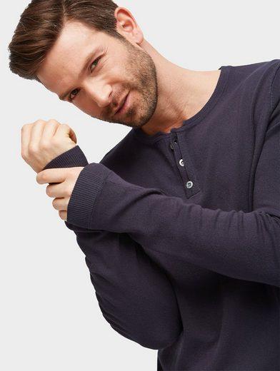 Tom Tailor Strickpullover Strickpullover mit Knopfleiste