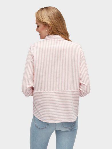 Tom Tailor Denim Langarmbluse Bluse im Streifenmix