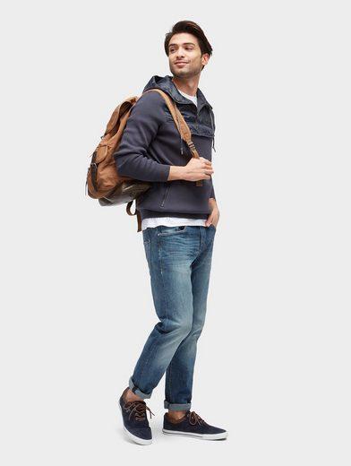 Tom Tailor Trainingskapuzenpullover Pullover im Materialmix mit Taschen