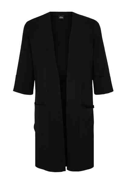 s.Oliver BLACK LABEL Long-Cardigan mit halblangen Ärmeln