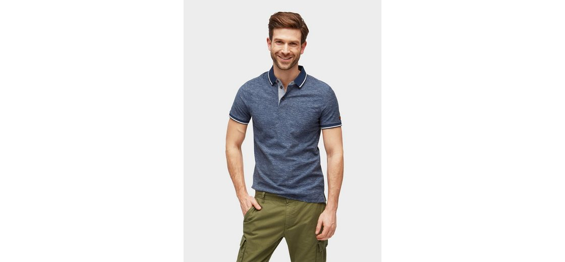 Verkauf Extrem Freies Verschiffen Exklusiv Tom Tailor T-Shirt Polo-Shirt in Melange-Optik 69LHOrpos