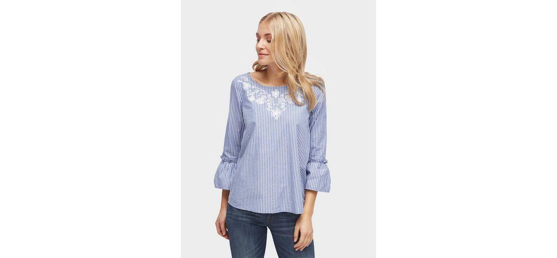 Zum Verkauf Großhandelspreis Billig Freies Verschiffen Tom Tailor Shirtbluse gestreifte Bluse mit Stickerei Spielraum Sammlungen Billig Extrem Gefälschte Online 4WAoqu
