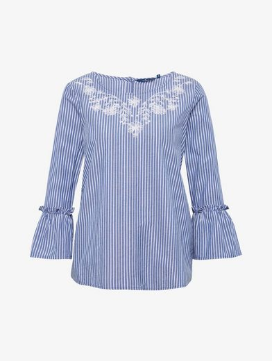 Tom Tailor Shirtbluse gestreifte Bluse mit Stickerei