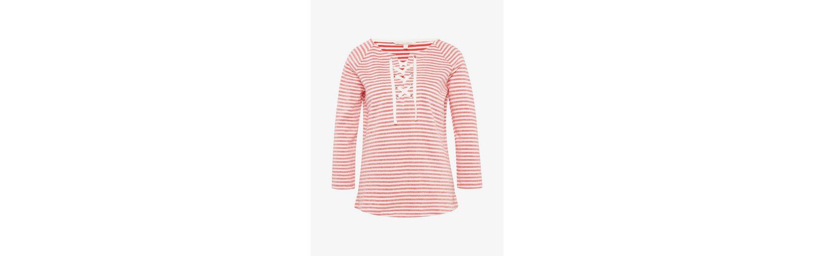 Tom Tailor Denim Sweatshirt gestreiftes Shirt mit Schnürung Steckdose Mit Master sDe3ztKC