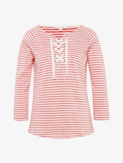Tom Tailor Denim Sweatshirt gestreiftes Shirt mit Schnürung