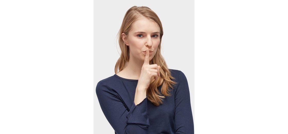 Manchester Großer Verkauf Günstiger Preis Tom Tailor Denim Langarmshirt Bluse mit Trompeten-Ärmeln Ausgezeichnete Günstig Online Viele Arten Freies Verschiffen Niedrig Versandkosten Rabatt 100% Original 0sbKB