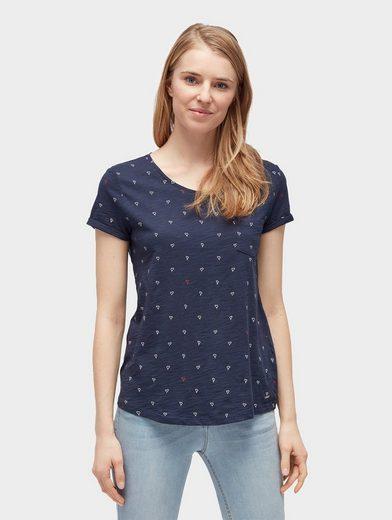Tom Tailor Denim T-Shirt T-Shirt mit Herzchen-Print