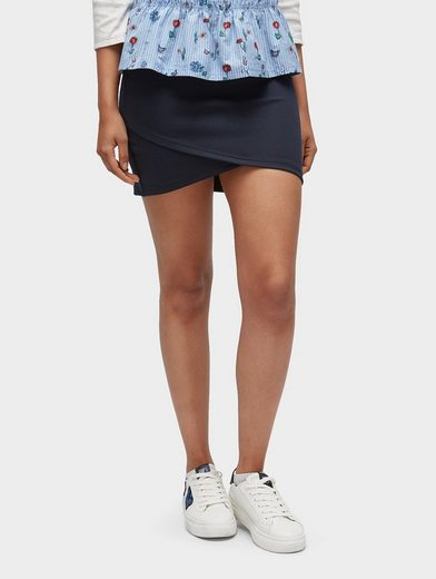 Tom Tailor Denim Wraparound Skirt With Overlapping Front
