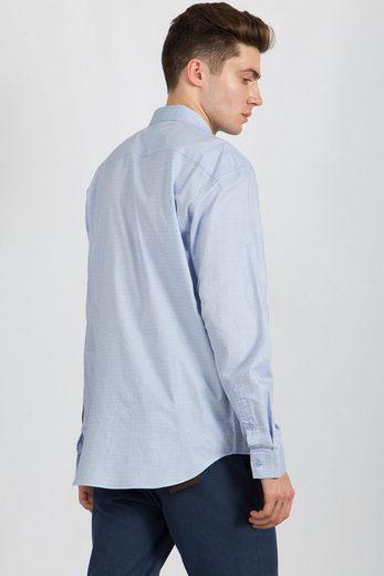 Finn Flare Hemd mit dezentem Muster