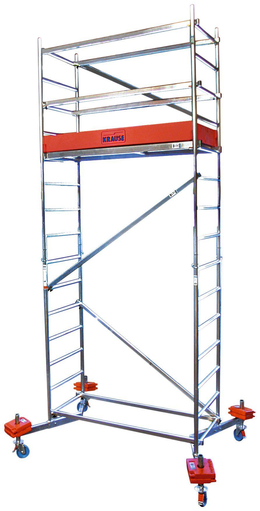 KRAUSE Fahrgerüst »ClimTec«, Max. Arbeitshöhe 5 m, inkl. Fahrrollensatz 150 mm