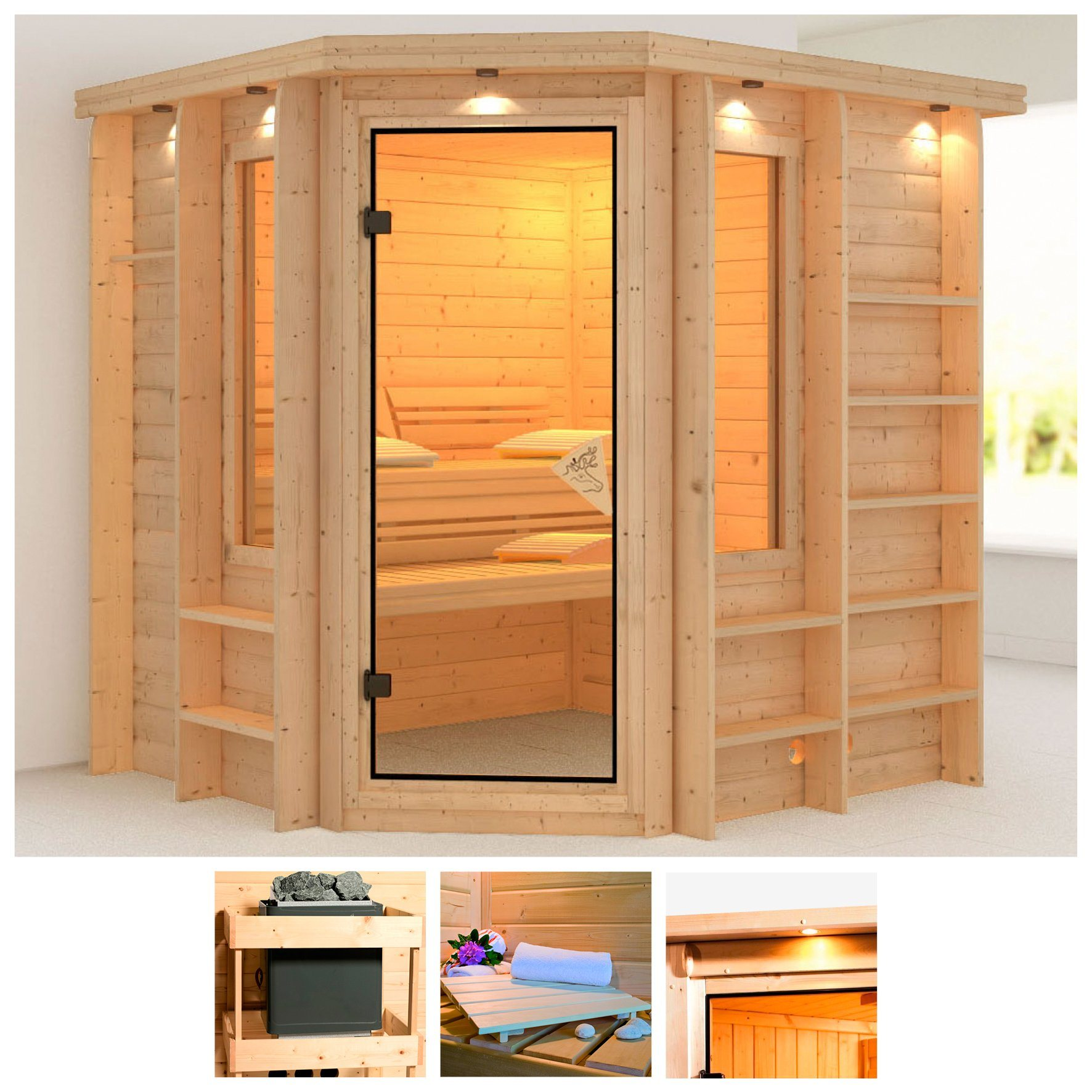 sauna online kaufen karibu inka mit with sauna online. Black Bedroom Furniture Sets. Home Design Ideas