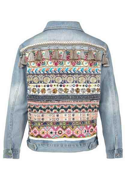HaILYS Jeansjacke »TORY«, mit aufwendiger Stickerei am Rücken