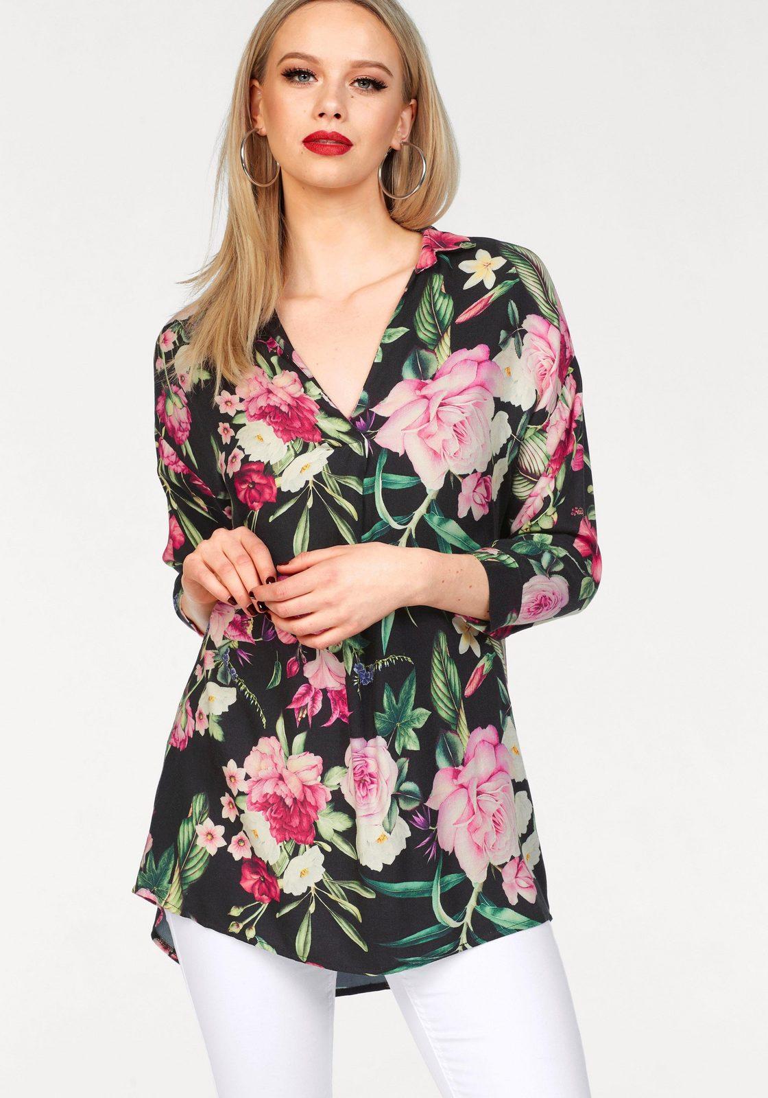 ZABAIONE Longbluse »MATHILDA« mit floralem Print