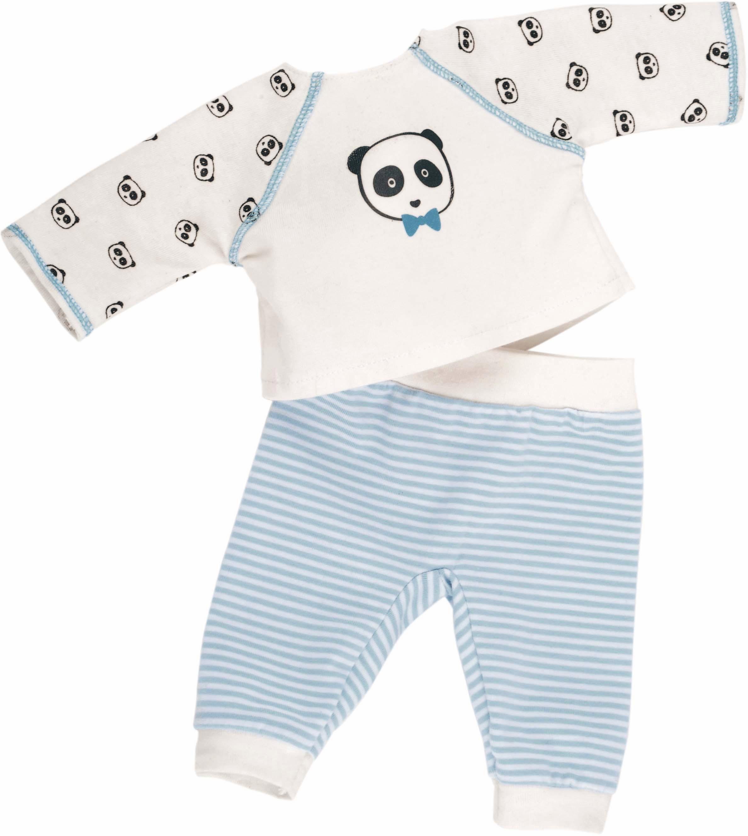Käthe Kruse Puppenbekleidung, Größe ca. 35-37 cm, »Panda Schlafanzug«