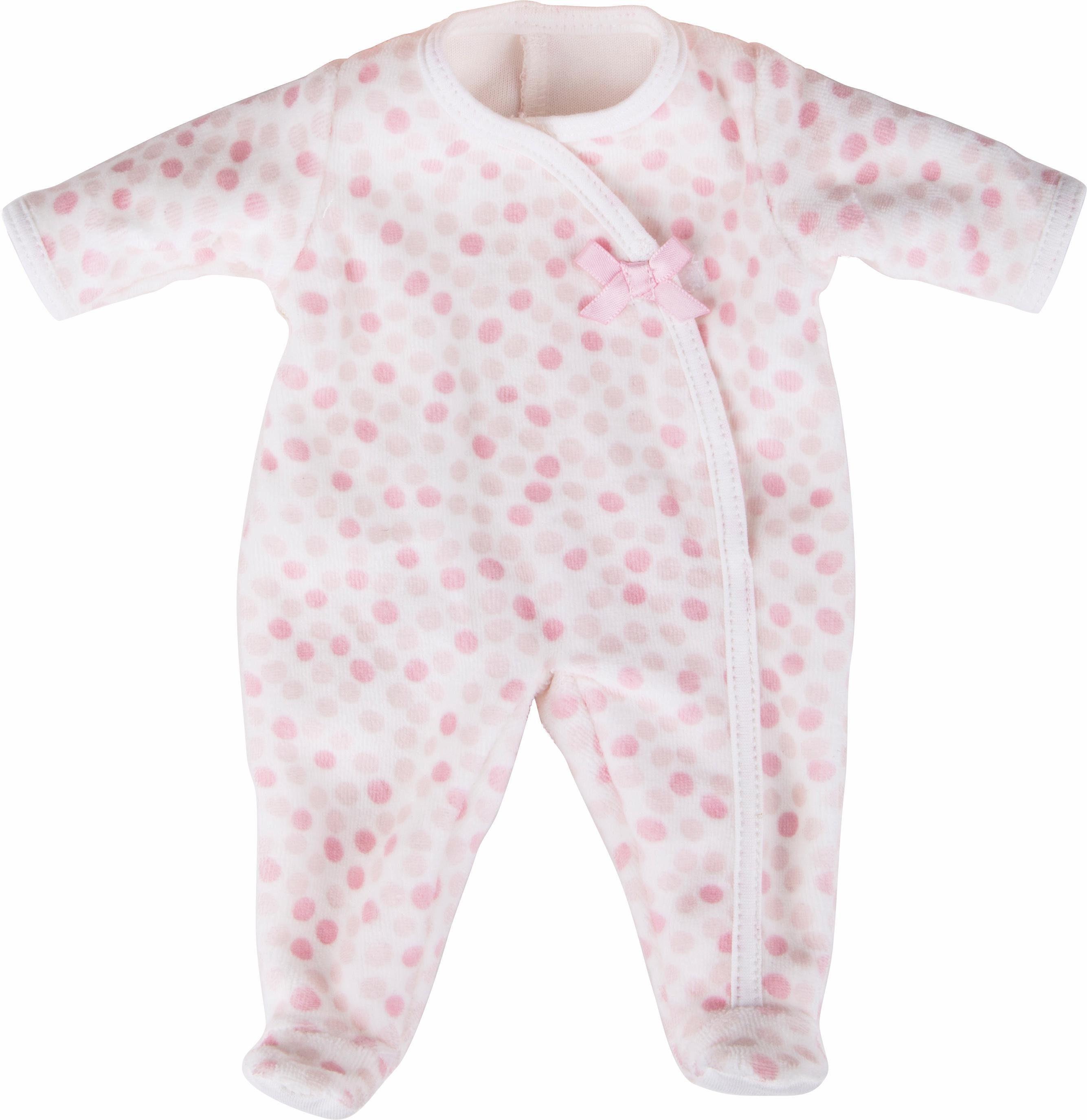 Käthe Kruse Puppenbekleidung, Größe ca. 30-33 cm, »Schlafanzug Tupfen rosa«