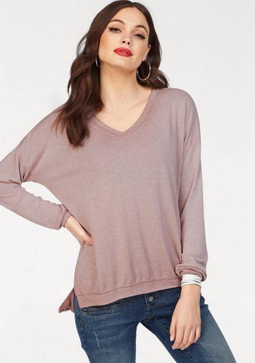 ZABAIONE V-Ausschnitt-Pullover SHILA, mit Glitzerfäden
