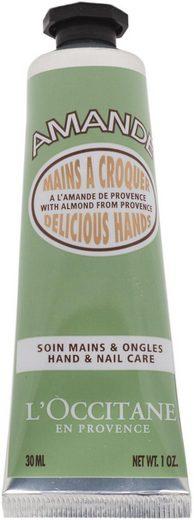 L'OCCITANE Handcreme »Amande Mains de Velours«, Reichhaltige Creme mit nativen Mandelbaumzellen und Mandelproteinen