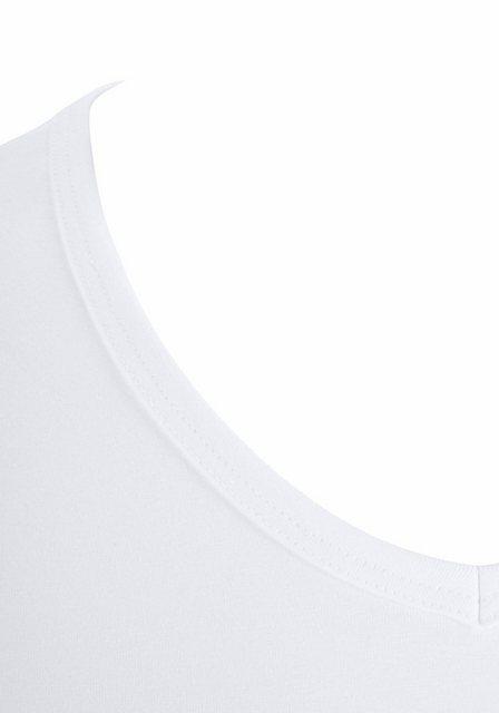 skiny -  Herren V-Shirt Essentials Kurzarm