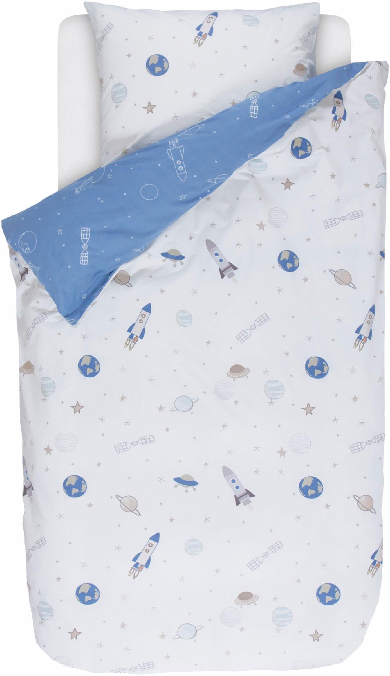 Kinderbettwäsche »Spaceships«, Esprit, mit Raumschiffen | Kinderzimmer > Textilien für Kinder > Kinderbettwäsche | Esprit