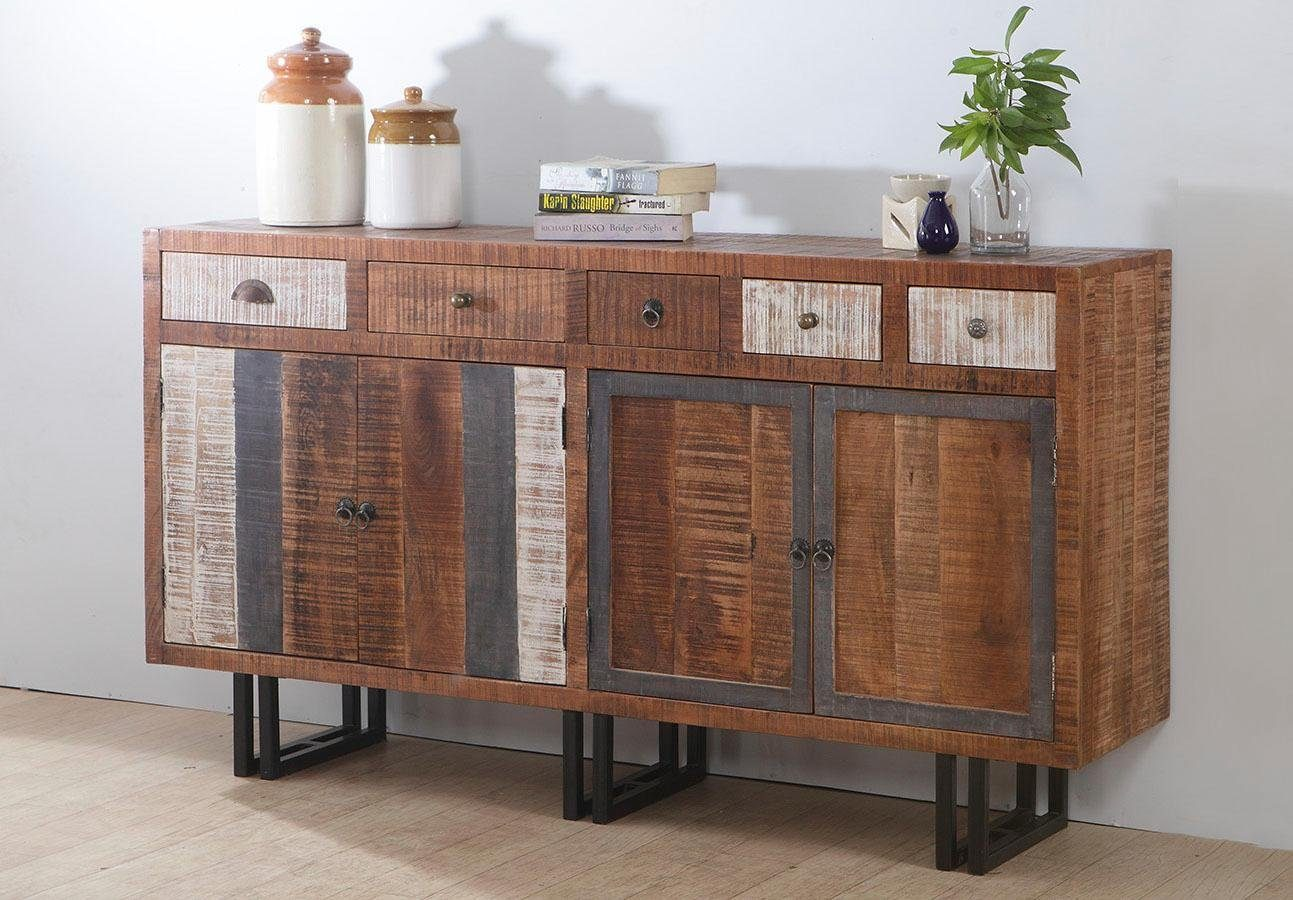 THE WOOD TIMES Sideboard «New Rustic», mit 6 Schubladen