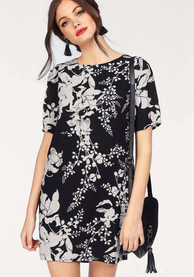 Vero Moda Druckkleid »KANA GABBY« mit Blumenmuster | Bekleidung > Kleider > Druckkleider | Schwarz | Vero Moda
