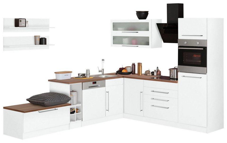HELD MÖBEL Winkelküche Ohne E Geräte »Samos«, Breite 300/250 Cm