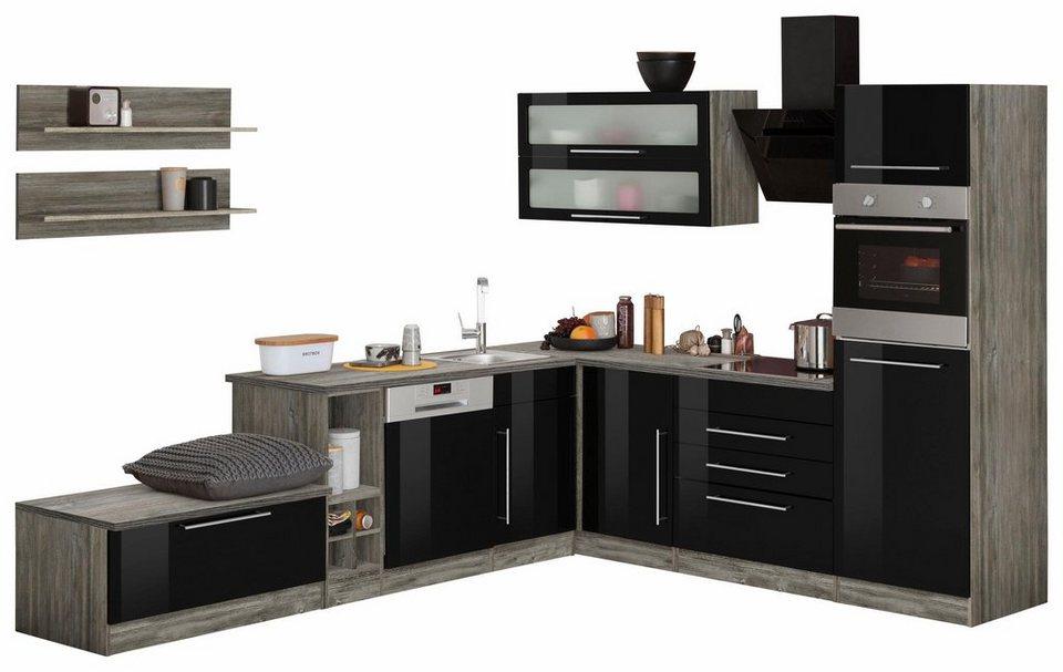 HELD MÖBEL Winkelküche ohne E-Geräte »Samos«, Breite 300/250 cm ...
