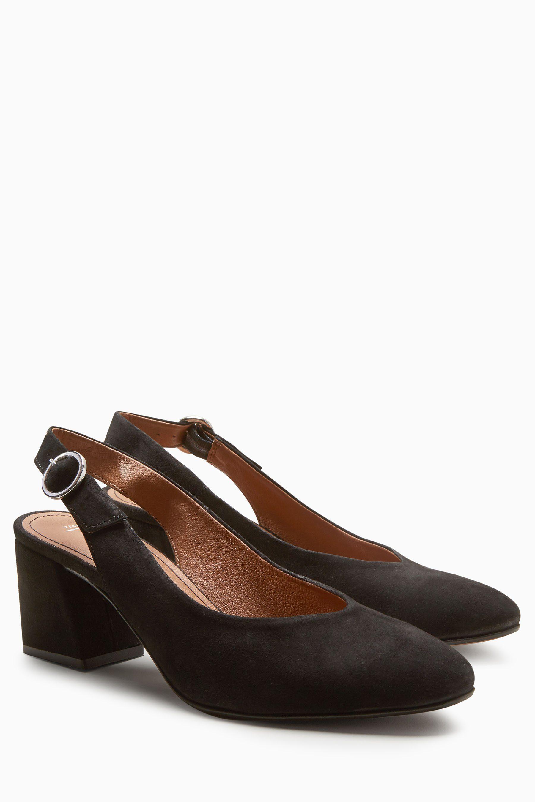 Next Schuh aus Veloursleder mit Fersenriemen  Black