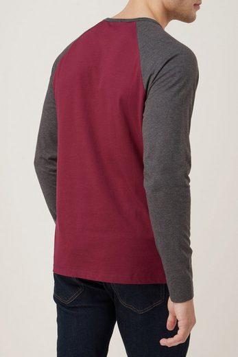 Next Shirt mit langen Raglanärmeln und Stickerei