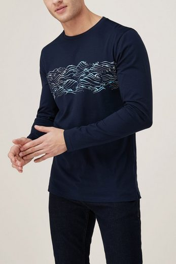 Next Langarm-Shirt mit Wellenprint