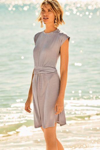 Next Drapiertes Kleid in Metallic