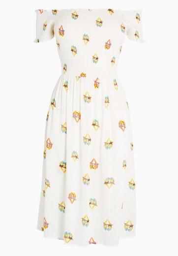 Next Bedrucktes Bardot-Kleid