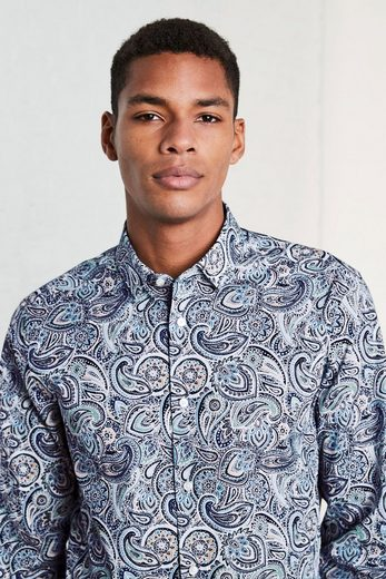 Next Regular-Fit-Hemd mit Paisley-Muster