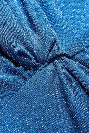 Next Glitzerkleid mit verdrehter Vorderseite