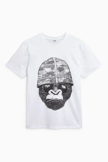 Next T-Shirt mit Gorilla-Print