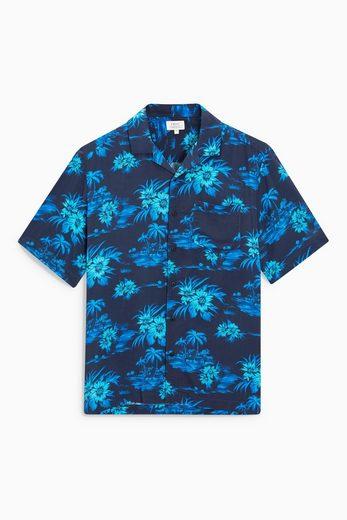 Next Kurzärmeliges Hemd mit floralem Muster