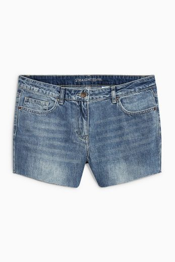 Next Denim-Shorts mit Fransensaum