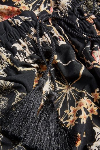 Next Gemustertes Kleid mit Bommeln